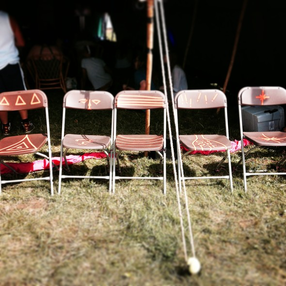 Musical chairs ready and waiting.